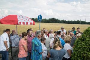 """großer Andrang bei unserem Feuerkorb-Termin zum Thema """"Bebauungsplan Bayernstraße"""""""