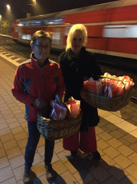 Andrea Lipka mit Gemeinderätin Dorle Fuchs