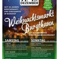 Einladung zum Burgthanner Weihnachtsmarkt